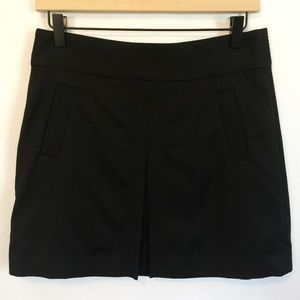 J Crew Wool Mini Skirt Pleat Front with Pockets